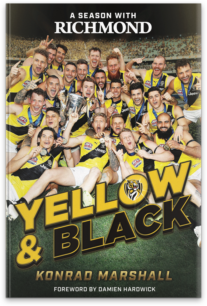 Book With Black And Yellow Cover : Yellow and black a season with richmond the slattery